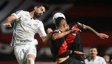 Com empate em Goiânia, Santos iguala pior sequência da temporada