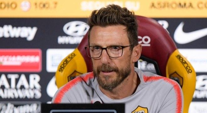 Eusebio Di Francesco foi demitido pela Roma nesta quinta-feira
