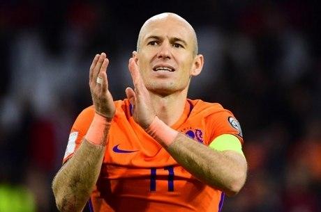 Robben recebeu mensagens em alemão e holandês