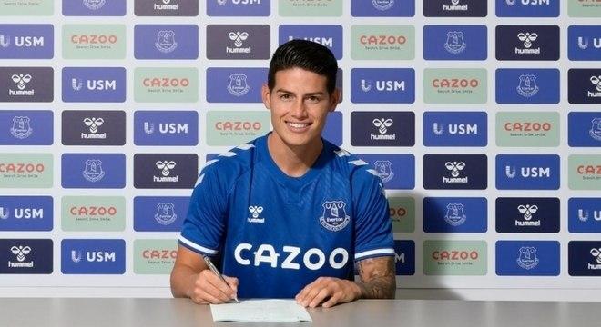 James, agora no Everton, atuou em apenas 14 partidas com Real na temporada passada