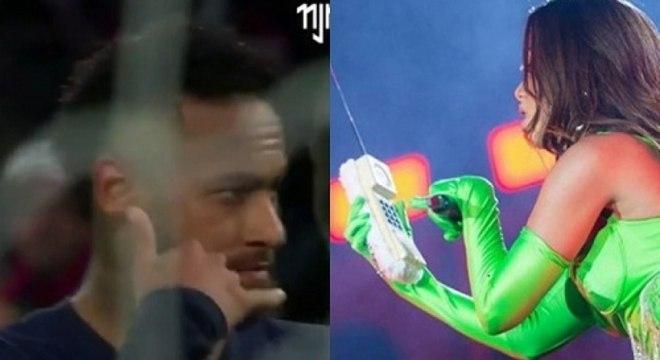Neymar e Anitta foram flagrados juntos no carnaval deste ano