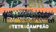 Palmeiras termina temporada com quase R$ 250 milhões em prêmios