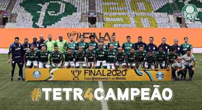 Palmeiras confirmou o terceiro título na temporada neste domingo