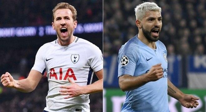 Harry Kane é aposta do Tottenham, enquanto Aguero é dúvida