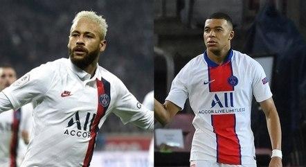Neymar e Mbappé são as estrelas do PSG