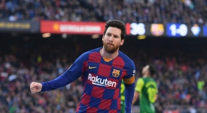 Messi treinou com o grupo e deve estar em campo contra o Mallorca, no sábado