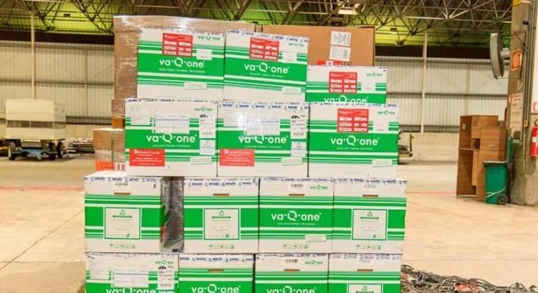 Vacinas doadas pela Conmebol chegaram nesta quinta-feira ao Brasil