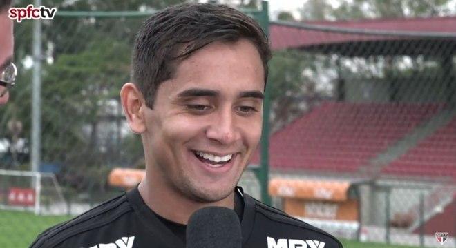 Everton Felipe falou pela primeira vez como jogador do São Paulo
