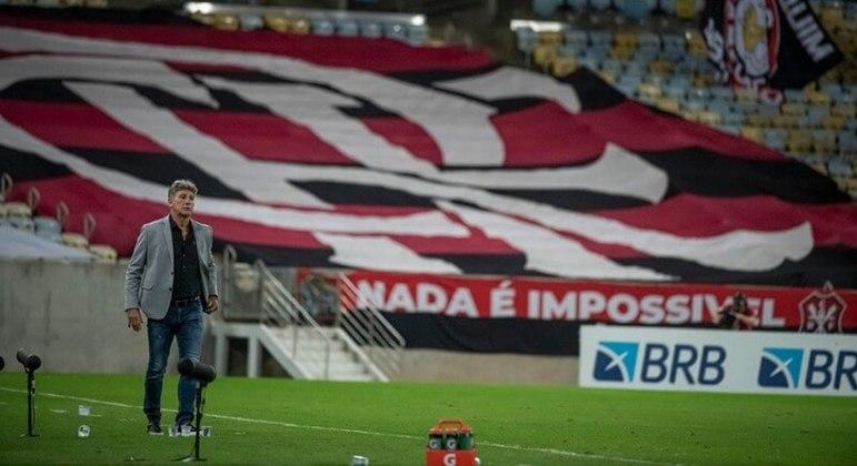 Renato Gaúcho, que vinha invicto no Flamengo, teve a primeira derrota