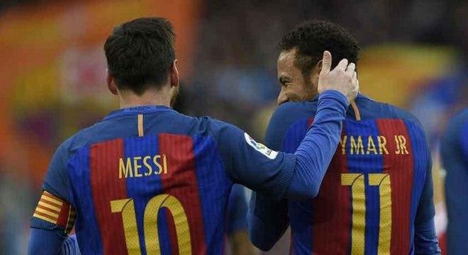 Messi e Neymar fizeram sucesso juntos no Barcelona
