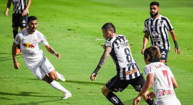 Bragantino e Santos não fizeram um jogo de muitas chances de gol