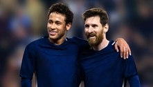 Neymar tenta convencer Messi a jogar pelo Paris Saint-Germain