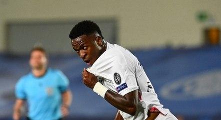 Vinícius Júnior fez dois gols contra o Liverpool