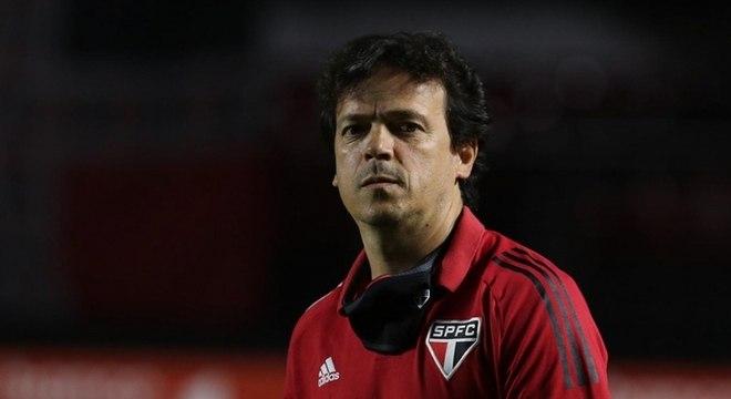 Fernando Diniz ficou aliviado com o empate com o Bragantino