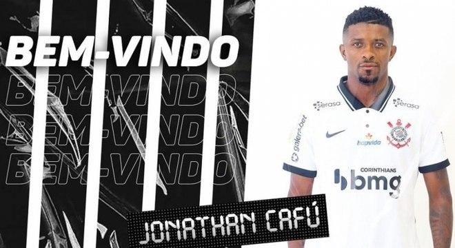 Jonathau Cafú foi confirmado pelo Corinthians nesta segunda