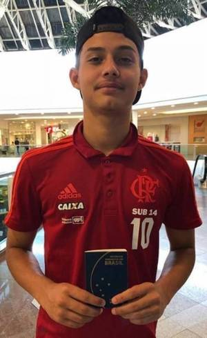 Cauan Emanuel, atleta do Flamengo, foi um dos feridos do incêndio do CT