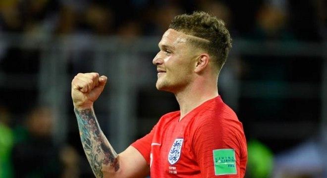 Trippier, que 'mandou' Walker para a zaga, é um dos destaques ingleses na Copa