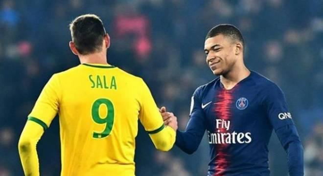 Sala e Mbappé se enfrentaram pelo Campeonato Francês