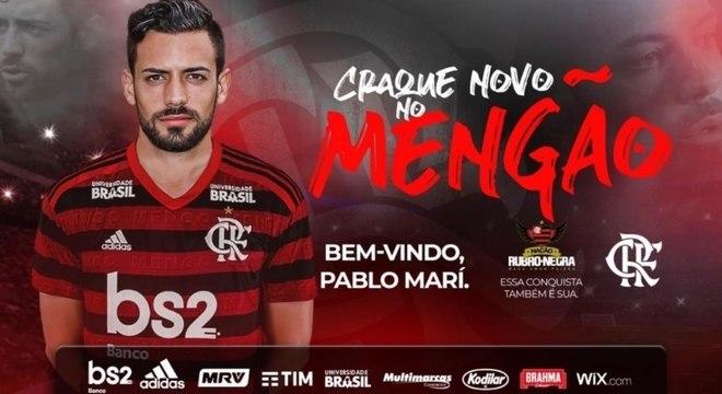 Anúncio foi feito nas redes sociais do Flamengo