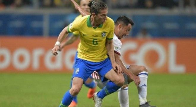 Filipe Luís foi campeão da Copa América pela seleção brasileira