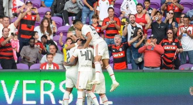 Jean Lucas deu alegria aos torcedores do Flamengo no Orlando City Stadium