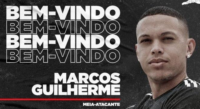 Marcos Guilherme, de 24 anos, começou nas categorias de base do Athletico-PR