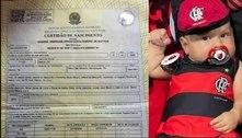 Torcedor batiza filho com mistura de nomes de atletas do Flamengo