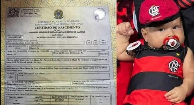 Pai de Gabriel é fanático pelo Flamengo