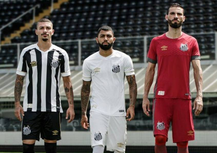 Santos divulga novas camisas, da Umbro, para a temporada 2018