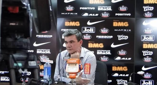 Andrés Sanchez concedeu entrevista coletiva na manhã desta sexta-feira, no CT