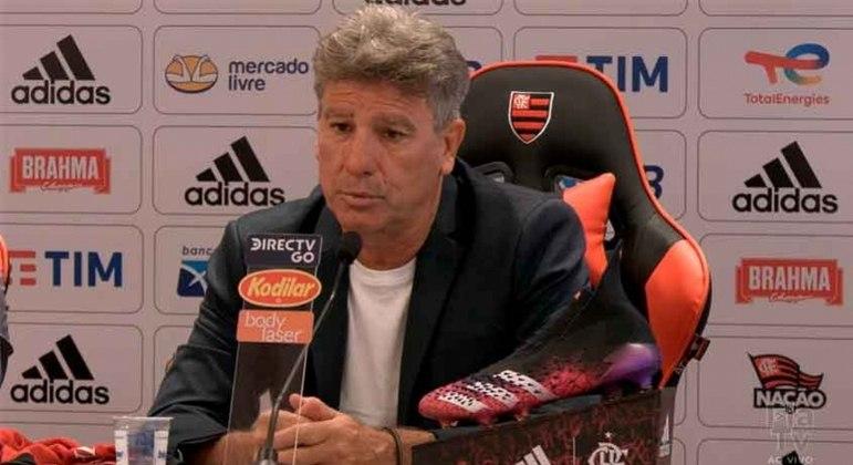 Renato deu sua primeira entrevista como técnico do Flamengo