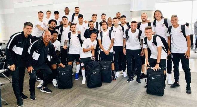 Corinthians embarcou para os Estados Unidos no último domingo