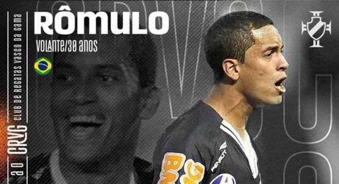 Rômulo foi campeão da Copa do Brasil pelo Vasco