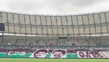 Torcida do Fluminense prepara mosaico de carrascos do Flamengo