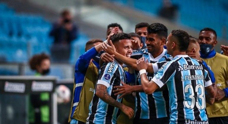 Matheus Henrique fez o gol que abriu caminho para a vitória do Grêmio