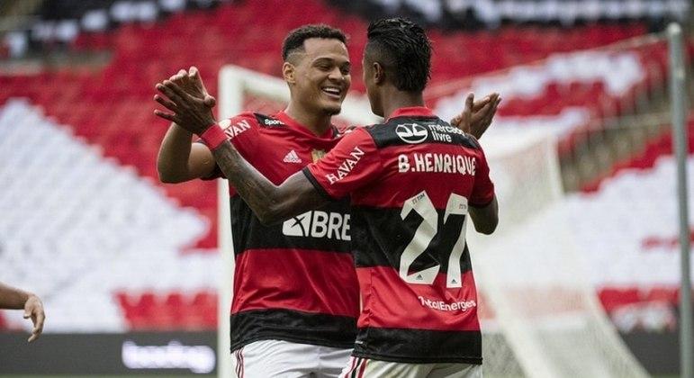 Os gols da partida foram marcados por Bruno Henrique e Rodrigo Muniz