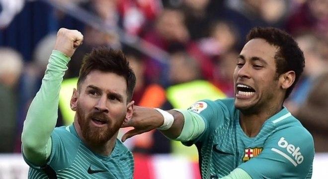 Messi e Neymar fizeram dupla de sucesso com a camisa do Barcelona
