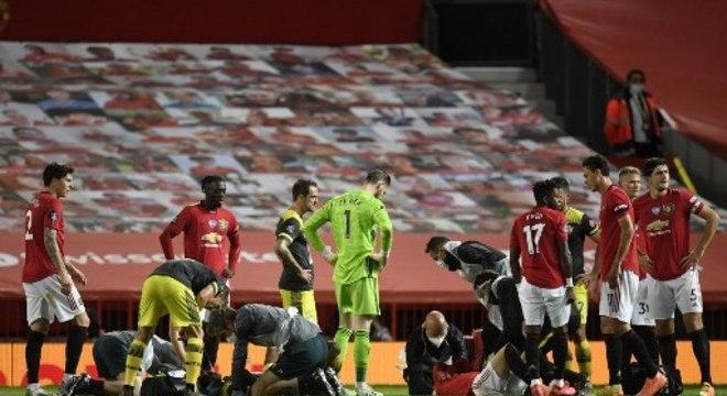 Manchester United ficou no empate com o Southampton: 2 a 2
