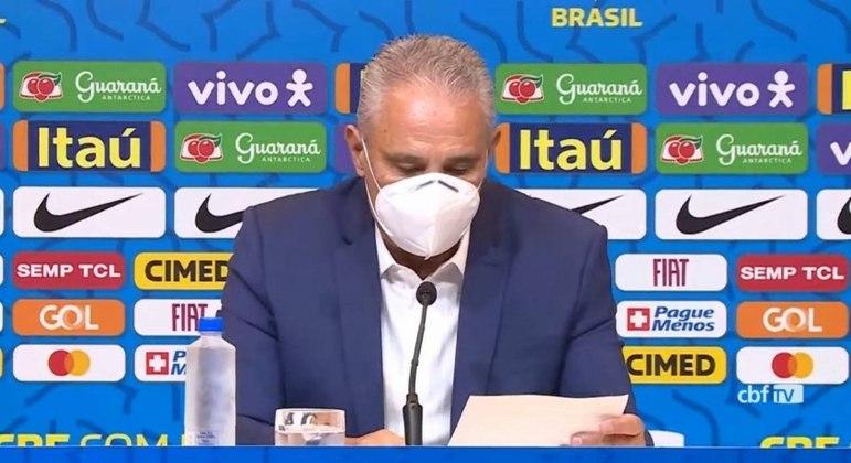 Tite convocou os jogadores para a seleção brasileira nesta sexta-feira (14)