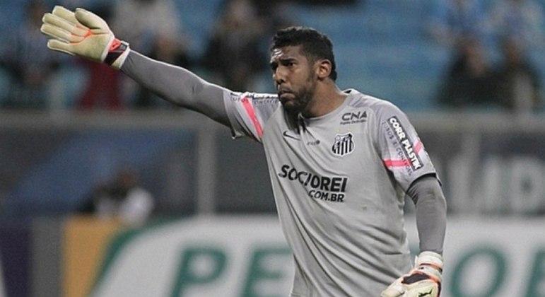 Aranha fez sucesso com a camisa do Santos