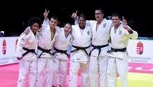 Com três medalhas, judô brasileiro iguala Mundial de 2019