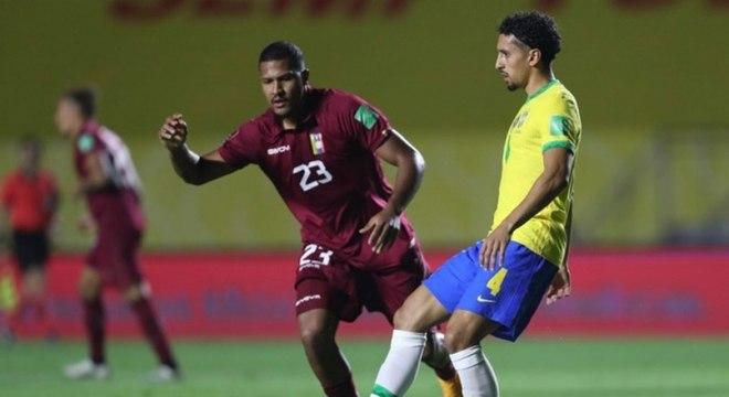 Marquinhos completou 50 jogos pela seleção brasileira