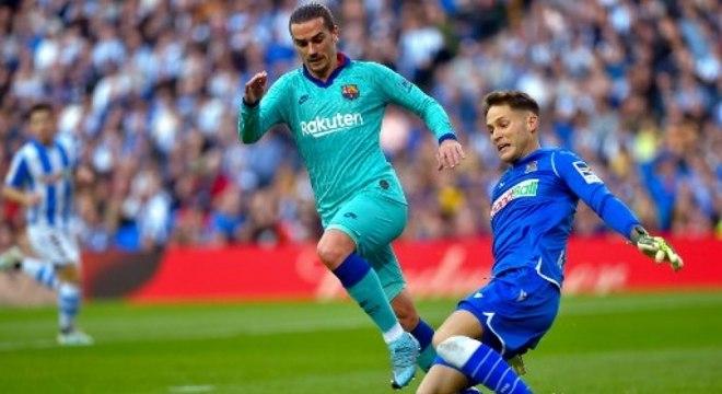 Griezmann marcou, mas teve dificuldades para superar defesa basca