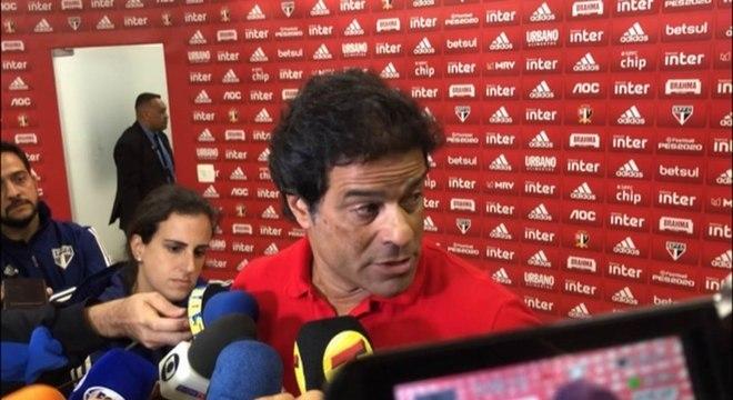 Raí concedeu entrevista antes do jogo contra o Corinthians