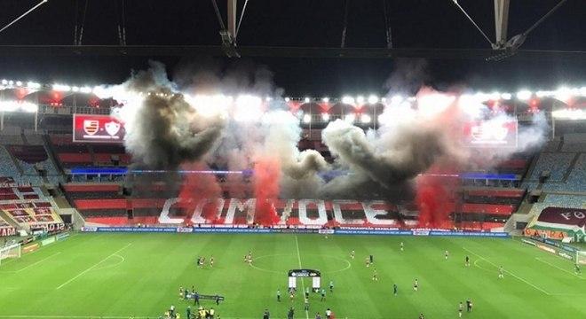 Flamengo organizou um mosaico especial para final contra o Fluminense