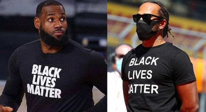 """""""Vidas negras importam"""": LeBron James e Hamilton se posicionaram contra racismo"""