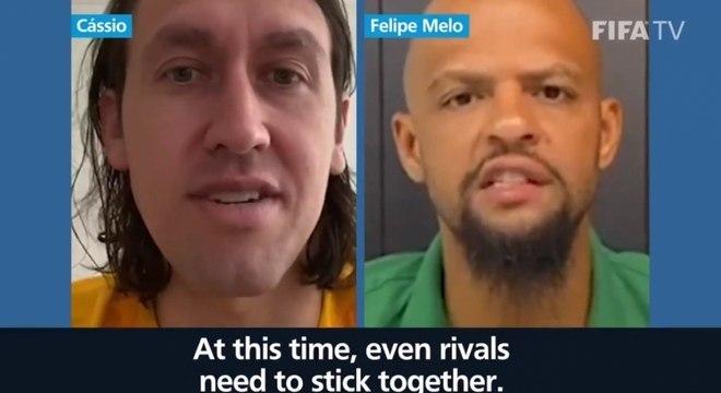 Cássio e Felipe Melo juntos em vídeo da Fifa