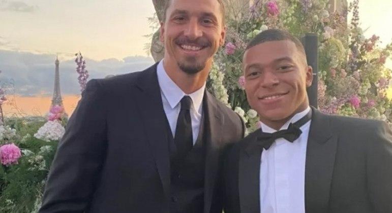 Mbappé postou foto ao lado de Ibrahimovic durante festa de casamento de Verratti