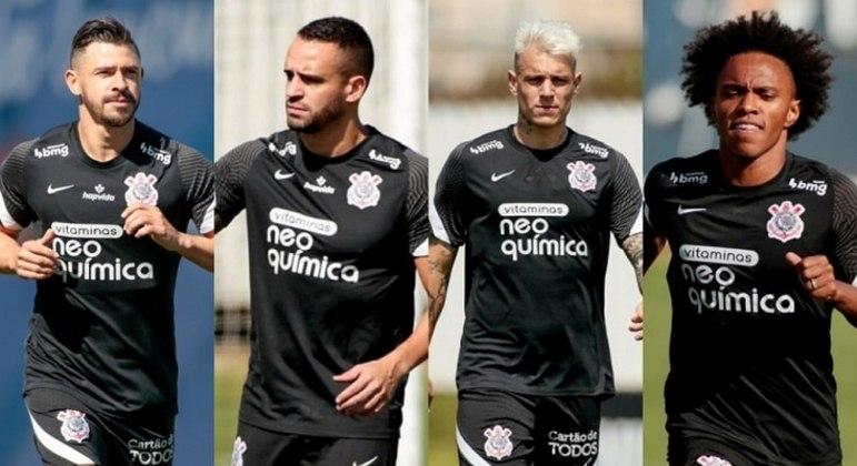 Giuliano, Renato Augusto, Róger Guedes e Willian devem ser relacionados para domingo