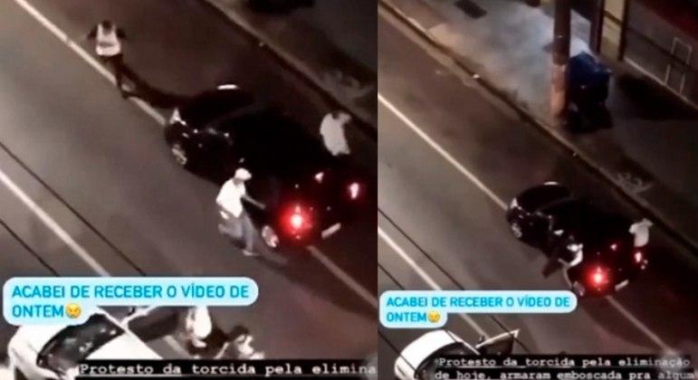 Cerca de 10 criminosos cercaram Diego Tardelli e depredaram o carro do jogador